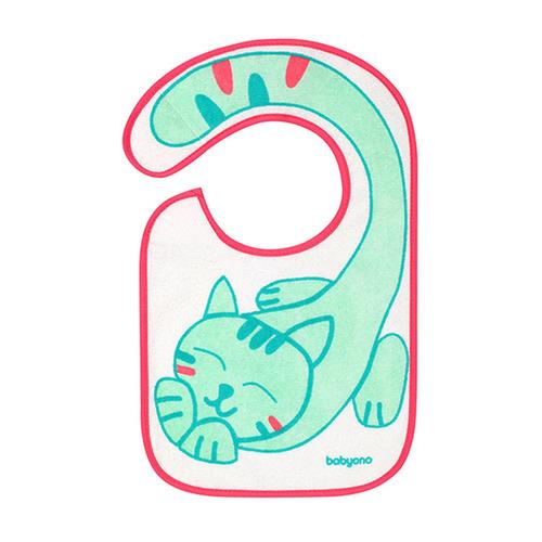 Babyono előke frottír vízálló réteggel #közepes cica #832-407622