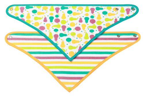Babyono Előke háromszög 2db gyümölcsök #877