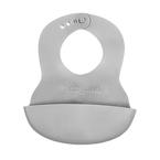 Babyono előke műanyag puha állítható szürke #835-407523