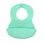 Babyono előke műanyag puha állítható zöld #835-407523