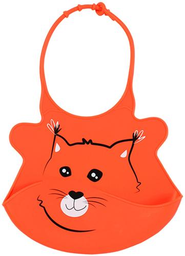 Babyono Előke műanyag szuper puha állítható #narancs-róka #834-407516