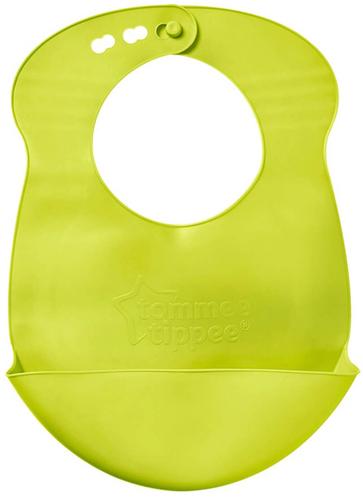 Tommee Tippee Roll-n-Go műanyag előke #lime zöld