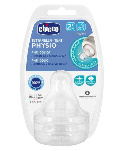 Chicco Cumi etető szilikon közepes folyású Perfect5 #2db #2hó #CH0203230