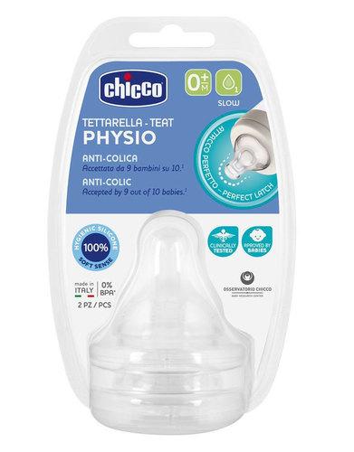 Chicco Cumi etető szilikon lassú folyású Perfect5 #2db #0hó #CH0203110