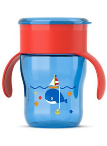 Philips Avent Első ivópohár #260ml #kék-piros #586029