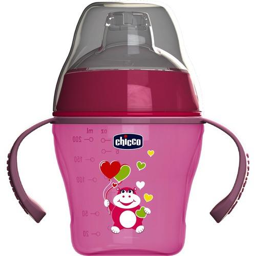 Chicco Soft cup Itatópohár #6m #pink #CH00682312-043002