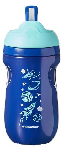 Tommee Tippee Insulated Straw itatópohár #12h #kék bolygók #44702597-470256