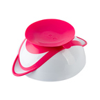 Babyono tapadós-fedeles Tányér -kanállal #pink #1063-03