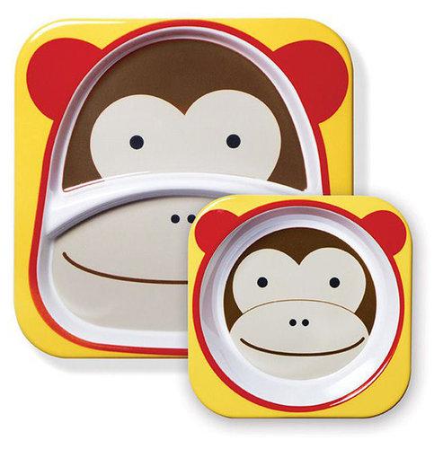 Skip Hop Zoo Tányér szett #majom #252202