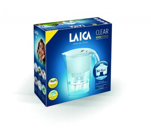 Laica Clear Line fehér vízszűrő kancsó 1 db bi-flux univerzális szűrőbetéttel #J11AB