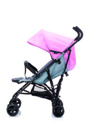 Fillikid Glider Plus sportbabakocsi #107-12 szürke/rózsaszín