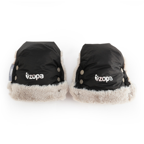 Zopa Fluffy vízálló kesztyű babakocsira #Night Black fekete
