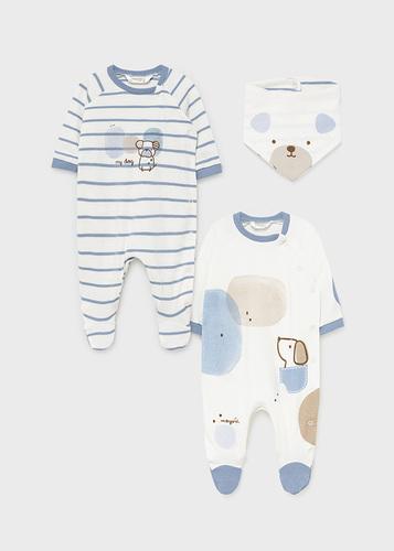 Mayoral Rugi 2-os szett nyálkendővel 2-4 hó 65cm Baby blue #2686 2021