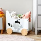Kinderkraft RACCOON játéktároló láda white