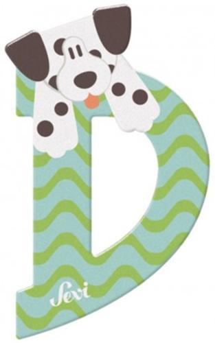 Sevi Fa betűk #állatos D menta-zöld