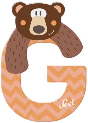 Sevi Fa betűk #állatos G barack-narancs