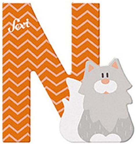 Sevi Fa betűk #állatos N narancs