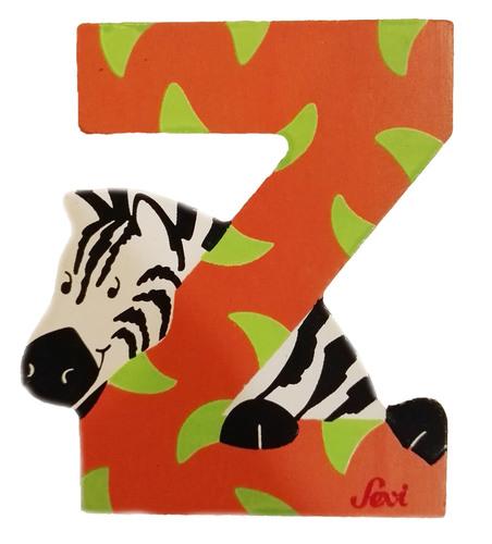Sevi Fa betűk #állatos Z rozsdabarna