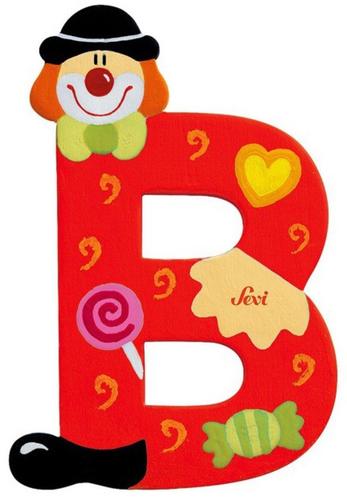 Sevi Fa betűk #bohócos B piros