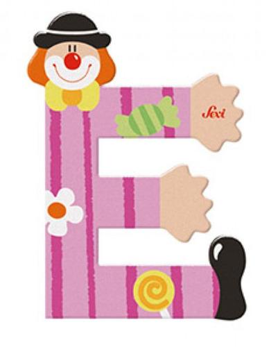 Sevi Fa betűk #bohócos E rózsaszín