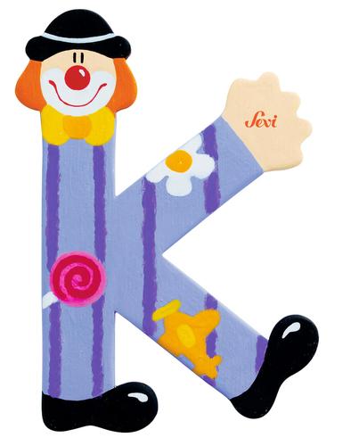 Sevi Fa betűk #bohócos K lila