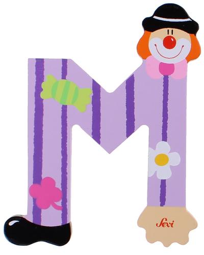 Sevi Fa betűk #bohócos M lila