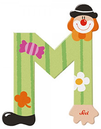 Sevi Fa betűk #bohócos M zöld