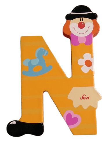 Sevi Fa betűk #bohócos N narancs új