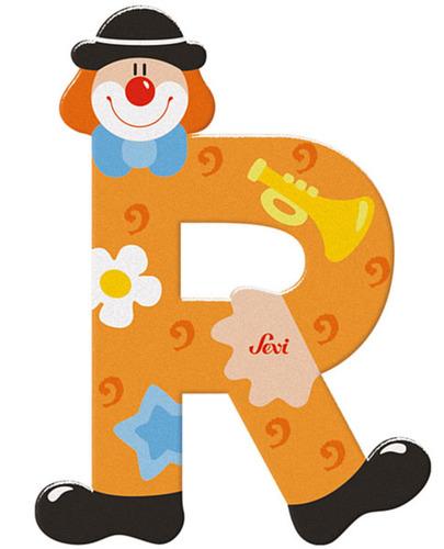 Sevi Fa betűk #bohócos R narancs