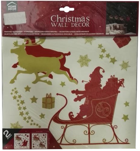 Crearreda Falidekor karácsonyi aranyszánkó 31x31 M-es #92801