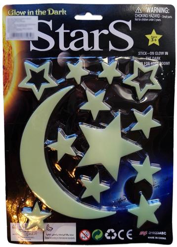 Mktoys Sötétben világító készlet #nagy #hold-csillagok #J62053-MKK277584
