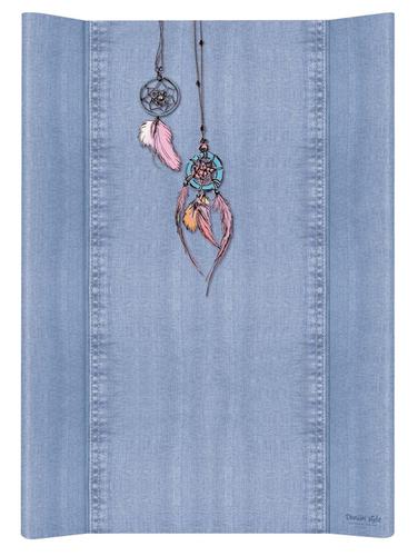 Ceba pelenkázólap merev #2 oldalú #50x70 #DENIM Style #Álomfogó Kék
