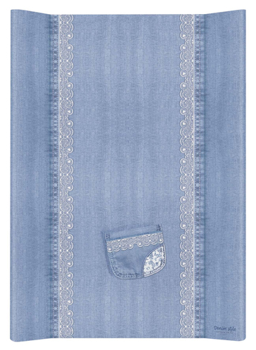 Ceba pelenkázólap merev #2 oldalú #50x70 #DENIM Style #Csiple Kék