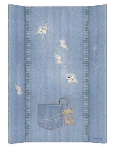 Ceba pelenkázólap merev #2 oldalú #50x70 #DENIM Style #Shabby Kék