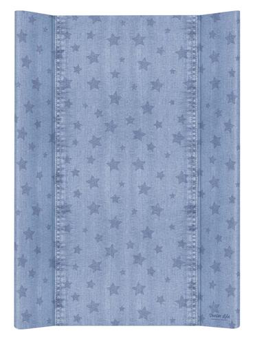 Ceba pelenkázólap merev #2 oldalú #50x70 #DENIM Style #Stars Kék