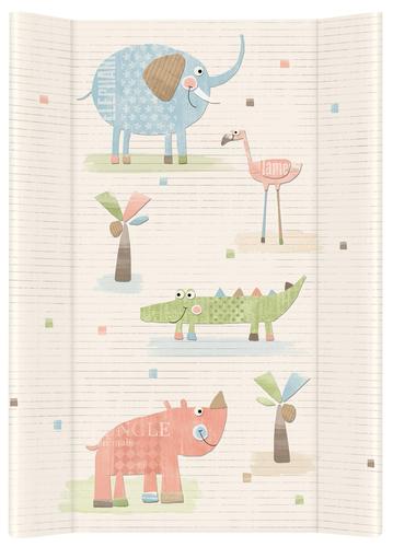 Ceba pelenkázólap merev #2 oldalú #50x70 #Elefánt