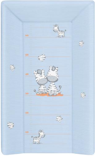 Ceba pelenkázólap merev #3 oldalú #50x80 #zebra kék