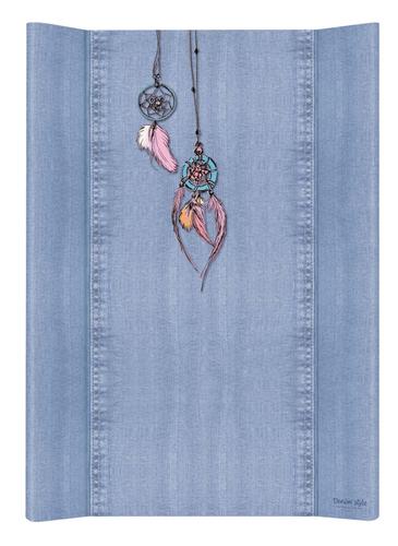 Ceba pelenkázólap puha #2 oldalú #50x70 #DENIM Style #Álomfogó Kék