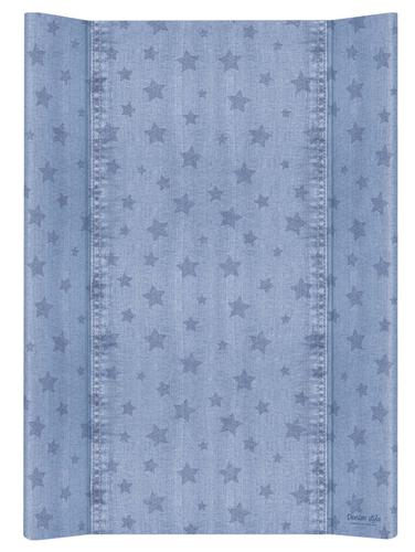 Ceba pelenkázólap puha #2 oldalú #50x70 #DENIM Style #Stars Kék
