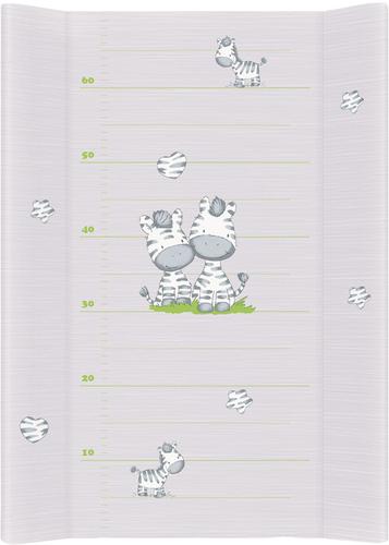 Ceba pelenkázólap puha #2 oldalú #50x70 #zebra szürke