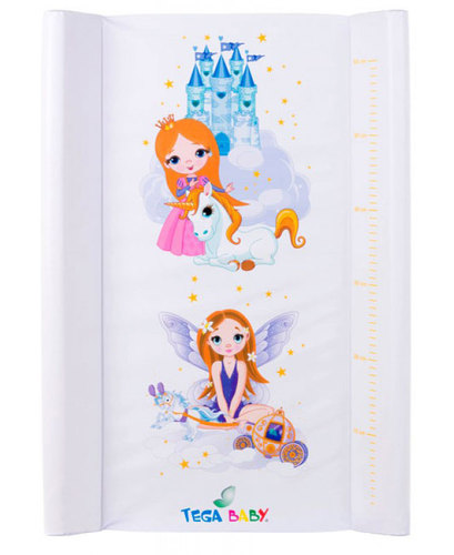 Tega pelenkázólap merev #50x70 #Little Princess fehér