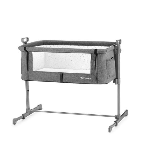 Kinderkraft NESTE szülői ágyhoz csatlakoztatható kiságy grey melange