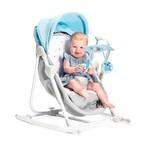 Kinderkraft UNIMO 5 in 1 bölcső-babaágy-hinta-pihenőszék-szék light blue