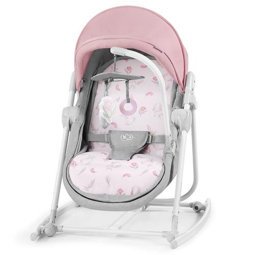 Kinderkraft UNIMO 5 in 1 bölcső-babaágy-hinta-pihenőszék-szék peony rose
