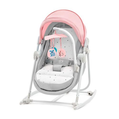 Kinderkraft UNIMO 5 in 1 bölcső-babaágy-hinta-pihenőszék-szék #pink