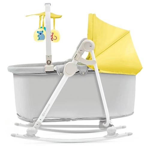 Kinderkraft UNIMO 5 in 1 bölcső-babaágy-hinta-pihenőszék-szék sárga