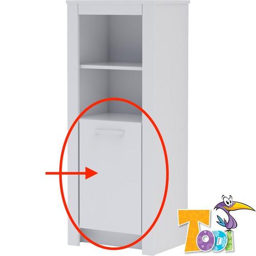 Todi White Bunny Ajtó keskeny nyitott polcos szekrényhez