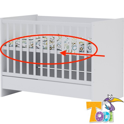 Todi White Bunny Fekvőrács önállóan használható 70x120-as kiságyhoz
