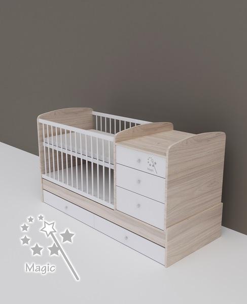 Todi Magic kombi pelenkázós babaágy - Kombiágyak és ágyneműtartóik ... a7ca3ec148