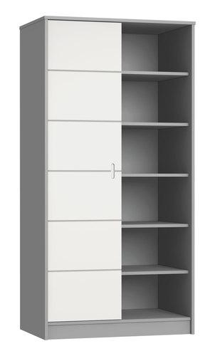 Faktum Alda Selyemszürke 2 osztású szekrény #12122111